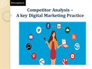 Competitor Analysis –A key Digital Marketing Practice