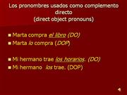 Direct object pronouns overview