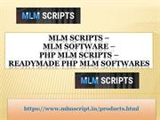 PHP MLM Scripts - Readymade PHP MLM Softwares