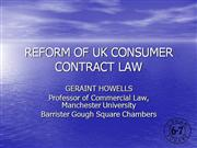 reform of consumer contract law edinburgh2010