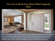 Give New Look To Your House With Composite
