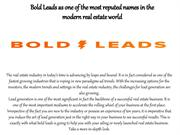 Bold Leads Best Real Estate Lead Generation Companies 2019