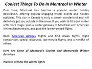 Coolest Things To Do In Montreal In Winter