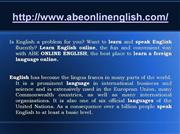 Speak learn English and foreign language