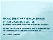 DM2 - Management of Hyperglycemia