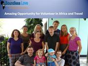Volunteer in Africa and Travel for Opportunity