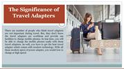 The Significance of Travel Adapters