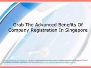 Grab The Advanced Benefits Of Company Registration In Singapore