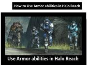 How to Use Armor abilities in Halo Reach