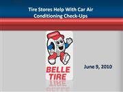 Tire Stores Help With Car Air Conditioni