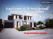 Significance of 3D Architectural Rendering Services Provider