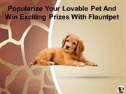 Popularize Your Lovable Pet And Win Exciting Prizes With Flauntpet