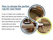 Choose The Perfect Rug For Your Home | Best Area Rug Ideas Perth