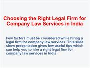 How to Choose the Right Legal Firm for Company Law Services
