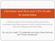 Christmas And New year's Eve Foodie In Amsterdam