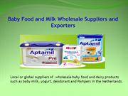 Baby Food and Milk Wholesale Suppliers and Exporters