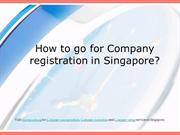 How to go for Company registration in Singapore
