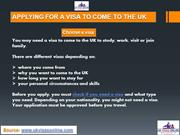 How to Apply for UK Visa Online