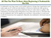 All That You Want To Know About Registering A Trademark In The USA