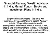 Financial Planning Wealth Advisory in In