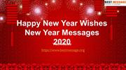 Happy New Year Wishes Messages, Greetings for 2020