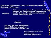 Emergency Cash Loans- Loans For People O