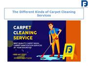 Different Kinds of Carpet Cleaning Services