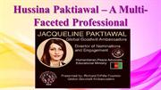 Hussina Paktiawal – A Multi-Faceted Professional
