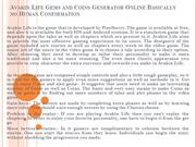 Avakin Life Gems and Coins Generator Online Basically