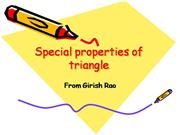 Special Properties of Triangle