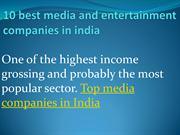 10 best media and entertainment companies in india
