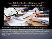 Marshall Hosel All The Help You Need To Maximize Lead Generation Succe