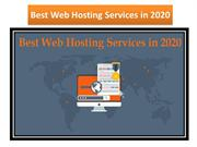 Best Web Hosting Services in2020
