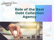 Role of the Best Debt Collection Agency