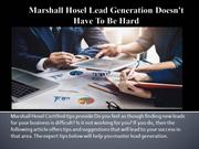 Marshall Hosel Lead Generation Doesn't Have To Be Hard