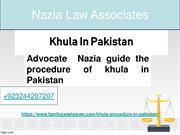 Legal Procedure Of Khula In Pakistan