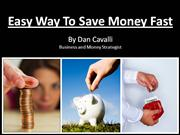 Easy Way To Save Money Fast