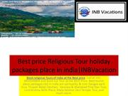 Religious Tour holiday packages place in India