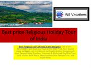 Best price Religious Tour holiday packages place in india|INBVacation