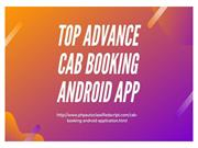 Advance Cab Booking Android App