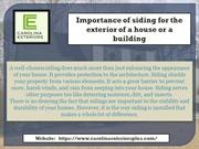 Importance of siding for the exterior of a house or a building