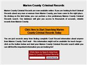 Marion County Criminal Records