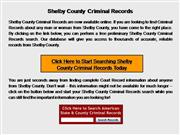 Shelby County Criminal Records