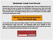 Westchester County Court Records