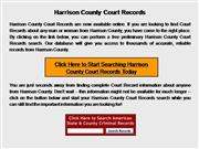 Harrison County Court Records