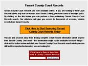 Tarrant County Court Records