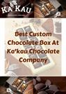 Artisan Chocolate Designs in Hamilton