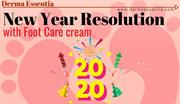 New Year Resolution for Foot with Foot Care cream