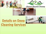 Details on Deep Cleaning Services