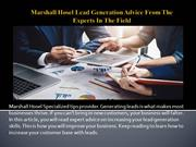 Marshall Hosel Lead Generation Advice From The Experts In The Field